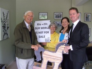 Greg Barker MP with Trojan Horse