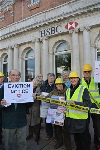 Outside HSBC bank, Bexhill