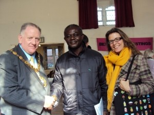 Hannah Reed with Alex and the Mayor of Bexhill