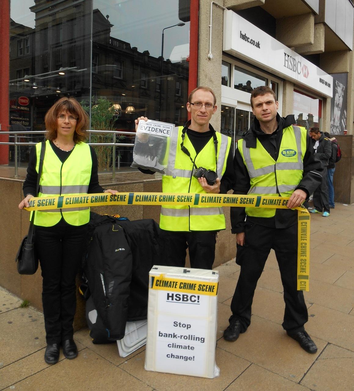 Crime scene': HSBC funds climate change