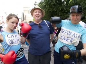 Mareike Beck, Keith Taylor MEP & Andrea Brocke IRFAN
