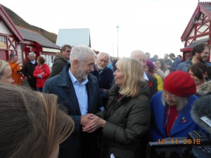 Sharing leaflet with Jeremy Corbyn