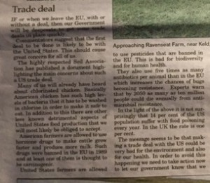 Trade deal letter D and S Times October 2019
