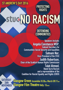 STUC anti racism march flyer 2016