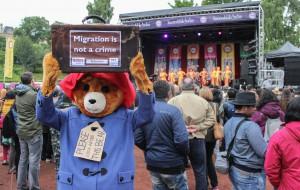 Paddington Bear at Glasgow Mela