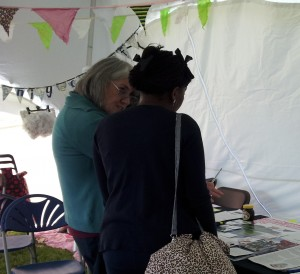 Visitor to WDM Stall