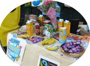 Fairtrade food stall