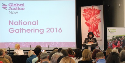 Diane Abbot speaking at conference