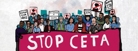 Say NO to CETA banner