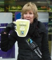 Drinking a cup of Fairtrade tea