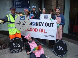 North and East London WDM campaigning outside RBS Angel Islington