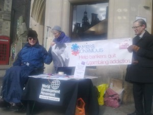 3 of the Oxford WDM group campaigning on Cornmarket