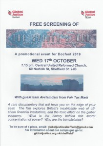 Film screening of: The Spiders Web. Wed 17th October 2018, Sheffield
