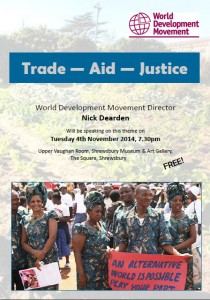World Development Movement talk in Shrewsbury_November 2014