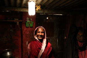 Photo of Litre of Light technology in action in a slum in India
