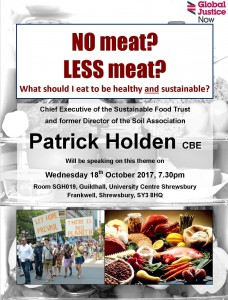 Talk by head of Sustainable Food Trust