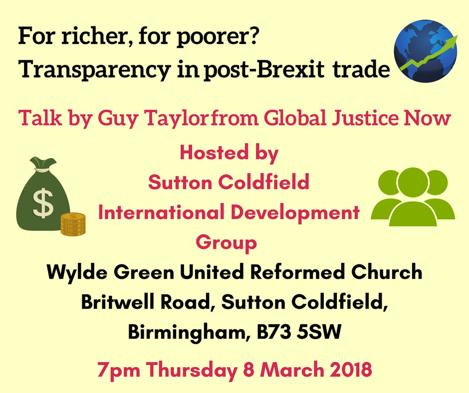 Transparency in post-Brexit trade - talk by Guy Taylor of Global Justice Now