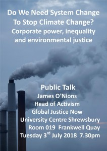 Climate Justice talk, Global Justice Shropshire
