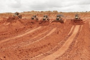 Clearing land for mining in the Brazilian Amazon.